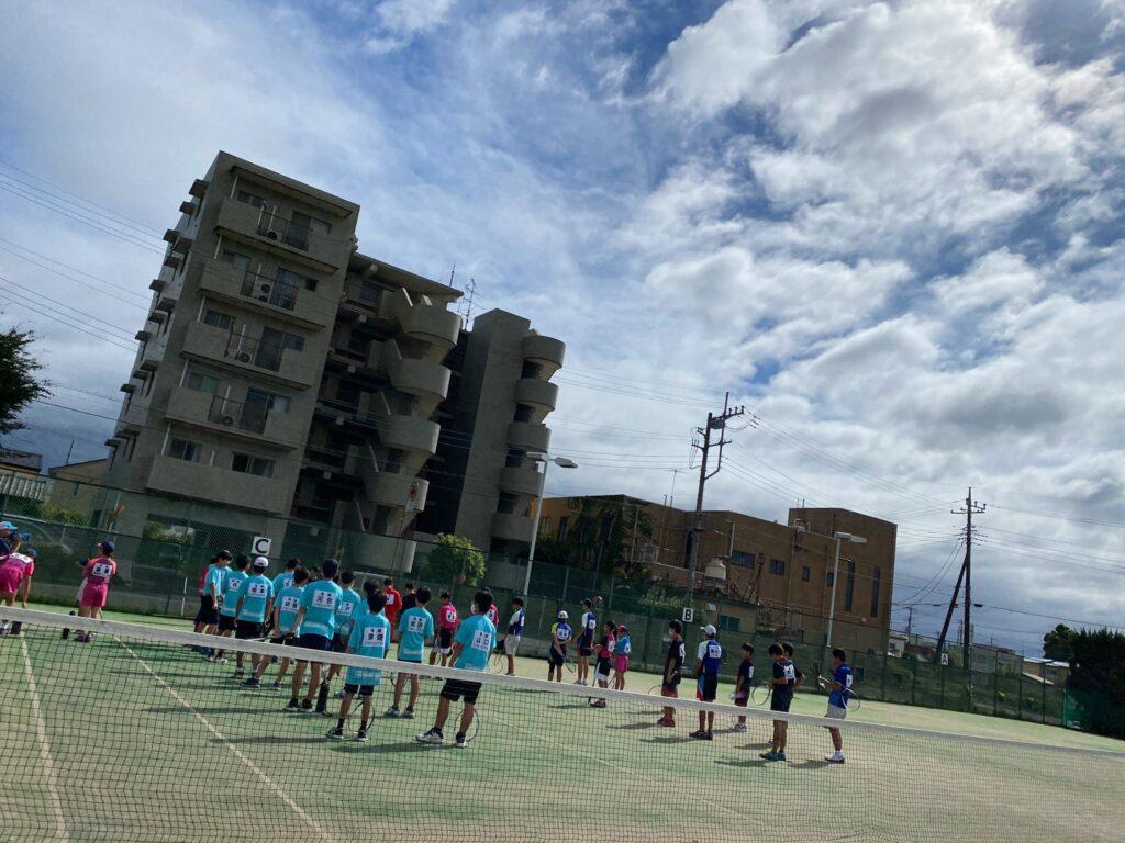 つくば市で開催された「スポーツ少年団ソフトテニス近隣大会中学生大会」の画像