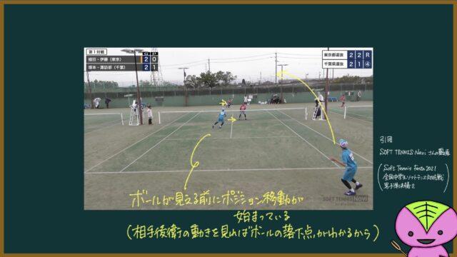 【456ページ目】ソフトテニスフェスタ2021準決勝第1試合の分析2【もちおのソフトテニスノート】